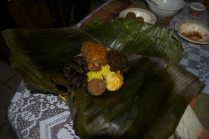 Lamprais is a traditional Sri Lankan dish that is steamed inside a banana leaf