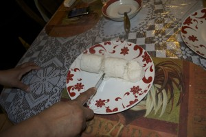 Puttu is a traditional Sri Lankan dish made with rice flour and fresh grated coconut