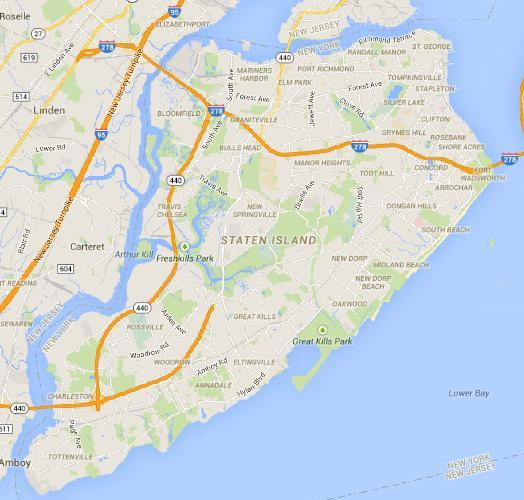 Map Of St George Staten Island